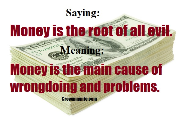argumentative essay on money is the root of all evil